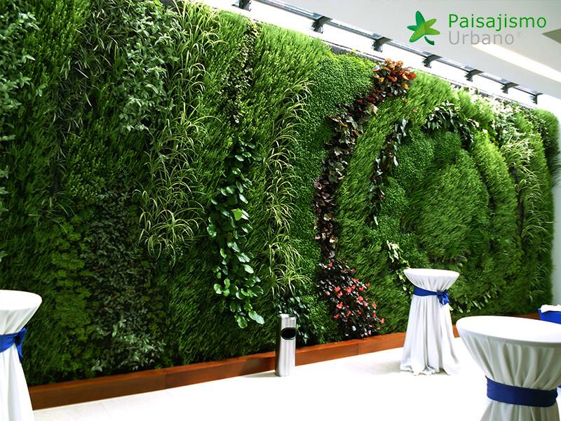 jardines verticales para eventos y actos culturales